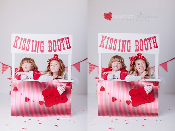 kissing booth...cute prop and poses!