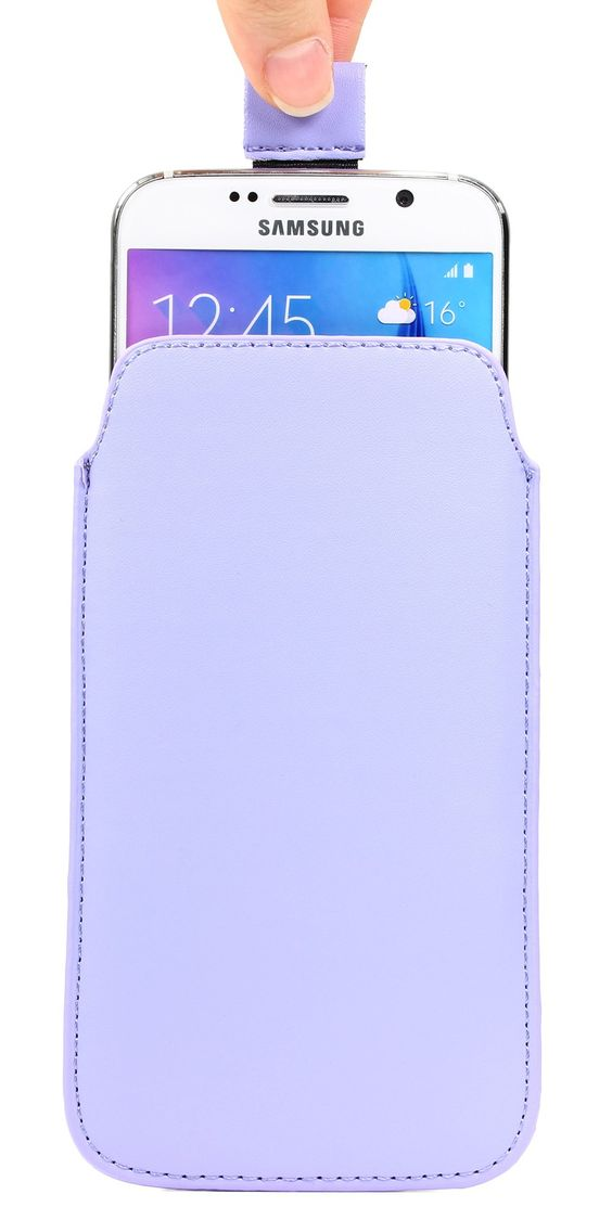 Original Urcover® Universal Schutzhülle Hülle Schale Pull Tab Etui Cover case Galaxy S7 Edge, S6 Edge Plus, iPhone 6/6s Plus Lila Flieder Lilac Bag 9,90€