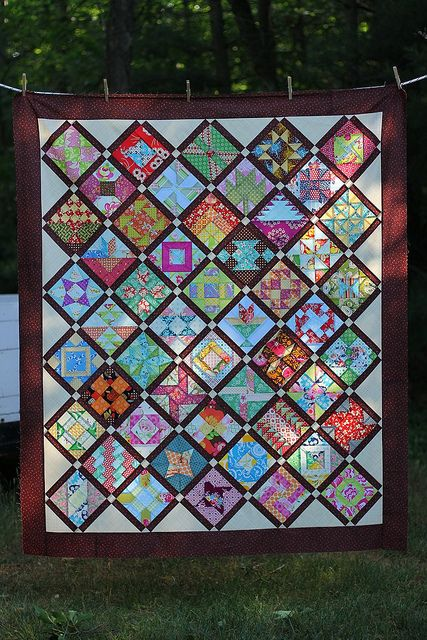 Farmer's Wife Quilt Top by twinfibers, via Flickr