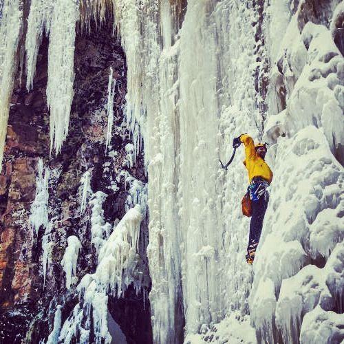 Ice climbing - Ontario, Canada: