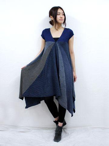 KAPITAL - gorgeous pieced dress with handkerchief hem