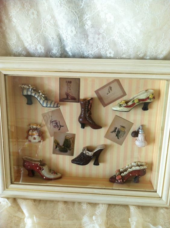 Victorian Shadow Box With Victorian Ladies by Roseantiqueboutique, $22.99