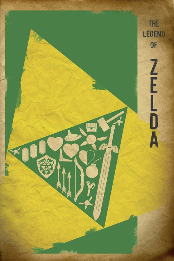 Minimalist Classroom Zelda : The legend of zelda retro poster minimalist art video game
