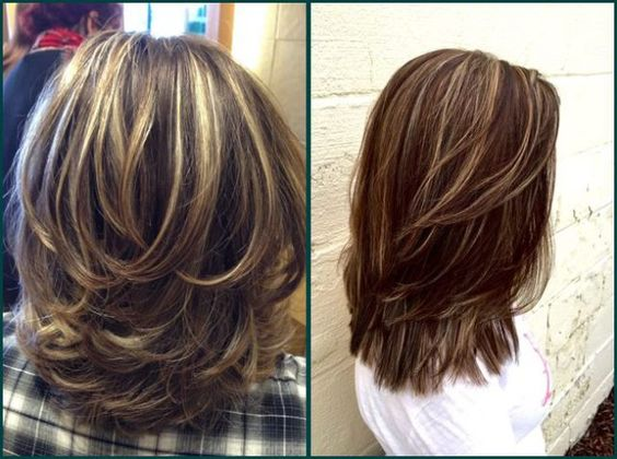 layered hairstyles, medium layered haircuts 2021