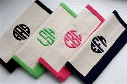 monogrammed canvas clutch...ohh totally ordering one of these