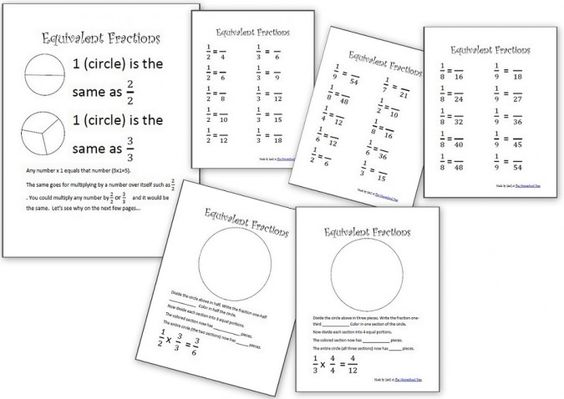 Free Equivalent Fractions Packet | Homeschool Den - Math ...