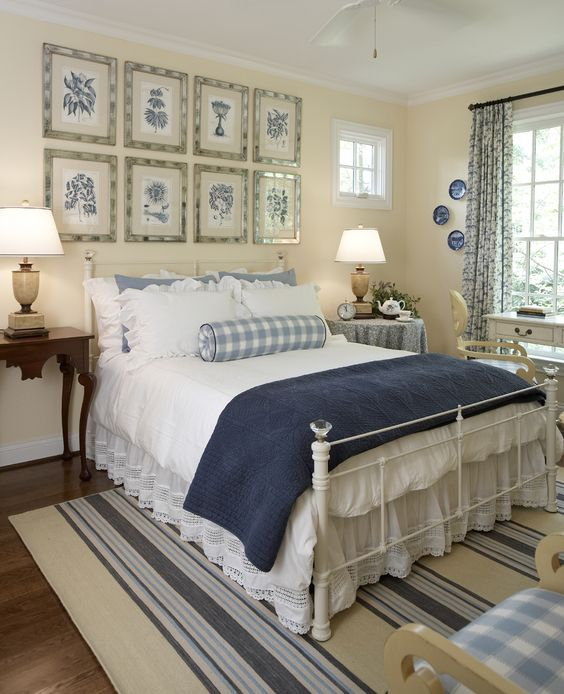 North Carolina Pool House Interior Design  love the bed details!: