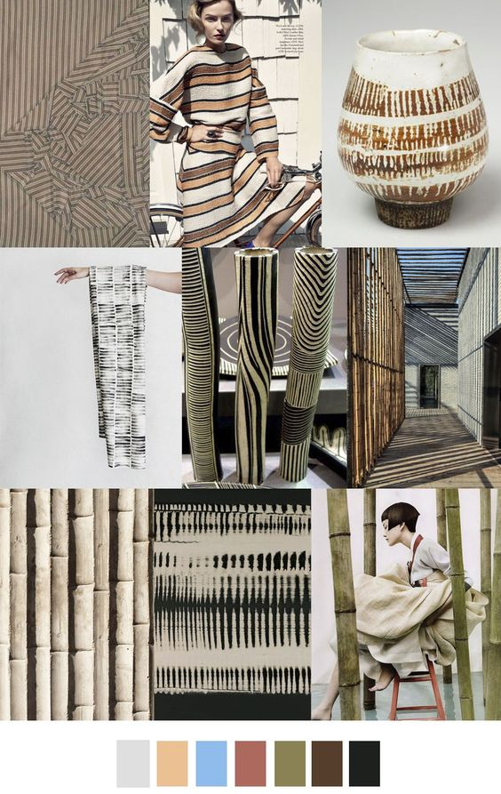 BAMBOO STRIPE pattern and color palette. Fashion trends ...