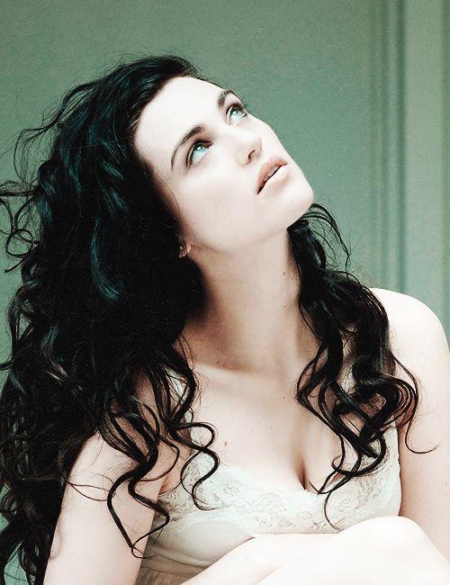 Katie McGrath: dark curly hair