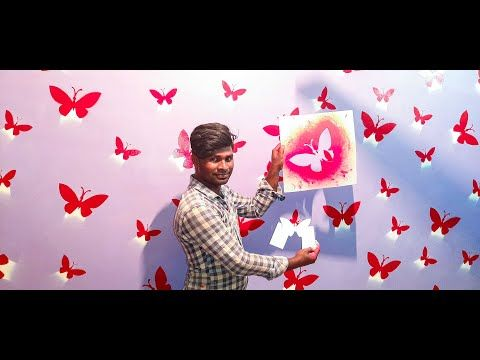 Awesome And Easy Diy Wall Art Spray Painting Ideas Flying Butterfly Youtube Butterfly Wall Art Simple Wall Art 3d Butterfly Wall Art