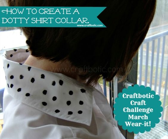 Give your shirt collar some pop! A tutorial on how to make a spotted shirt collar. @craftboticq www.craftbotic.com