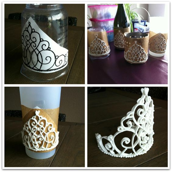 Tiara from royal icing: