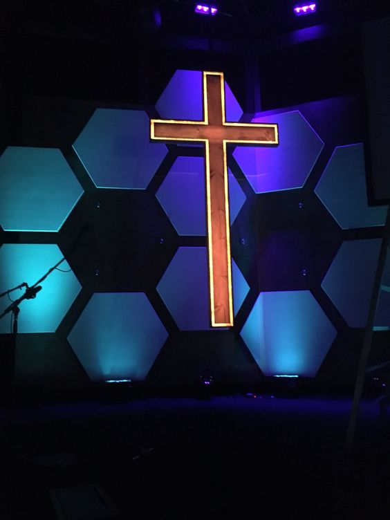 Cody Cochran from Living Water in Olympia, WA brings us this cool hexagonal stage design. From Cody: This set was designed and build for our 2016 easter and our youth conference we have once a year! Check out the message here. When we start the creative process on our stage sets we always write what we need and don't need, then we just work from there! Often times myself and 1 or 2 others sit in a room and just start tossing ideas out knowing what the needs are for that specific stage set...