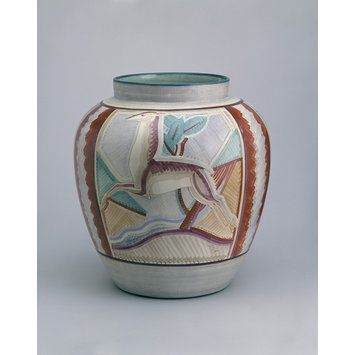 Susie Cooper, Ginger jar ca. 1926 A similar jar was exhibited by Gray's at the British Industries Fair in 1926 or 1927. The jar would originally have had a cover.