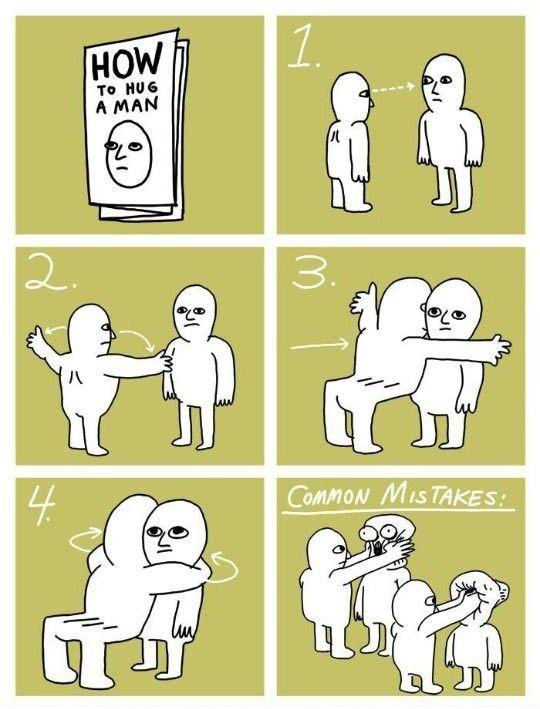 The Proper Way To Hug A Man http://ibeebz.com