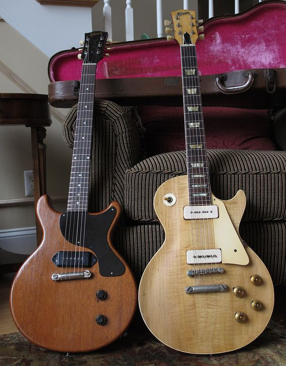 1956 Gibson Les Paul Goldtop (refin) & 1959 Les Paul Jr. - MyLesPaul.com