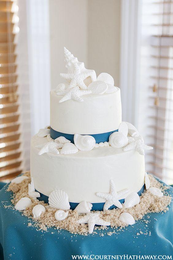 Beach wedding cake #DonnaMorganEngaged