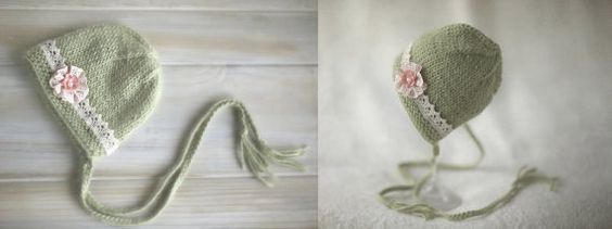 Heirloom Baby Girl Bonnet Country Style by EmeraldPhotoProps