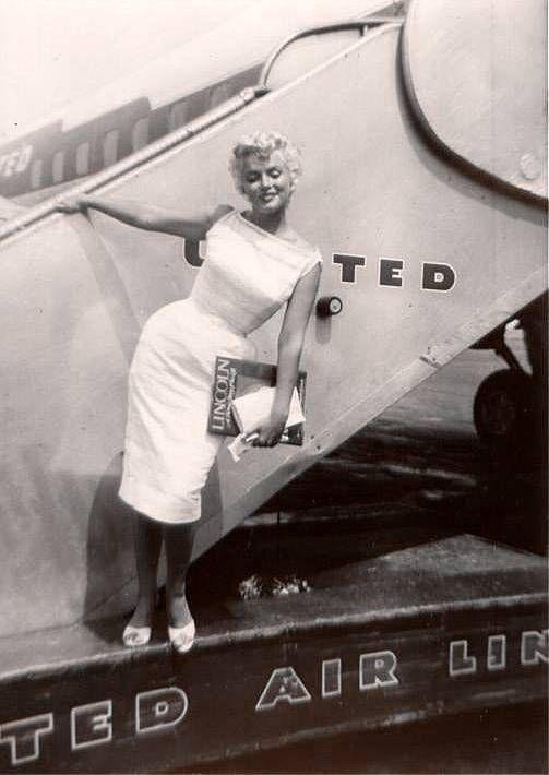 09/08/1955 Marilyn Monroe en visite à Bement