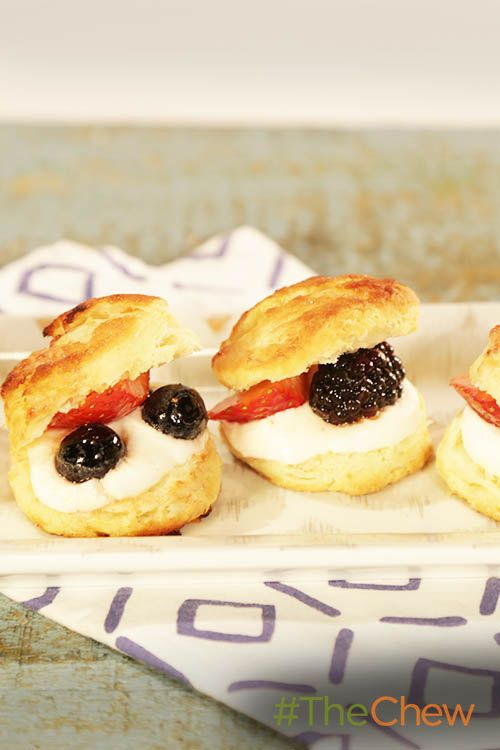 Buttermilk biscuits aren't just for savory meals; use them for this amazing Berries, Biscuits & Cream dessert!