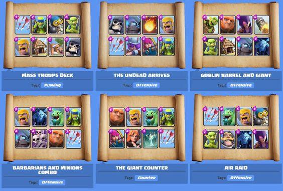 Clash royale deck mazzo ideale e migliori mazzi arena 1 2 for Deck arc x arene 7