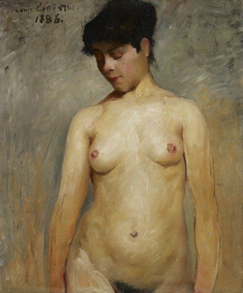 Nude Girl, 1886 (oil on canvas) by Lovis Corinth