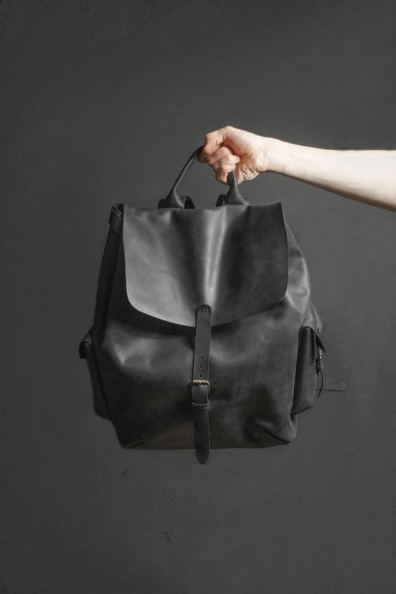 Leather mens backpack. Sale! Previous price 220$  Hi! We are happy to welcome you in our store. First of all I want to tell you that we used only the