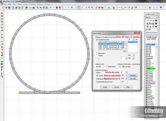 Software modelismo ferroviario WinTrack 1