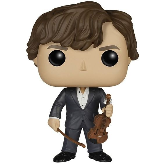 Funko POP TV Sherlock Sherlock Holmes with Violin Action Figure (31 BRL) ❤ liked on Polyvore featuring toys and backgrounds