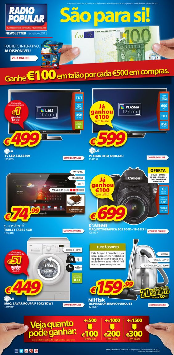 Newsletter - 100 Euros são para si!    http://www.radiopopular.pt/newsletter/2013/11/