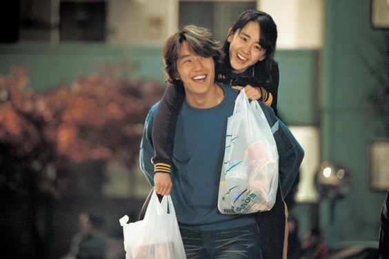 MY LITTLE BRIDE - Comedy: Sang min (Kim Rae won) is a 20 year old college student and Bo eun is a 15 year old high school student.  They're forced to marry due to an arrangement that was made between their families (their Grandfathers).   Arranged marriages aren't so uncommon in Korea.  The age difference may raise eyebrows with American viewers; the movie is a farce - just go with it, it's very sweet and very funny.