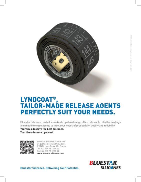 Une annonce presse destinée à faire la promotion de la gamme de silicones conçus sur-mesure pour l'industrie du pneu. Eh oui, nos pneus contiennent aussi du silicone !