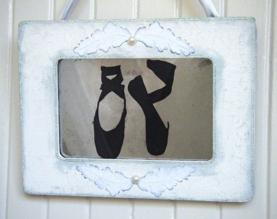 Ballet Slippers Antiqued Mirror