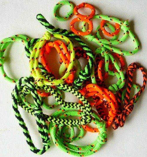 Neon Rope Bracelets. I had a ton of these!