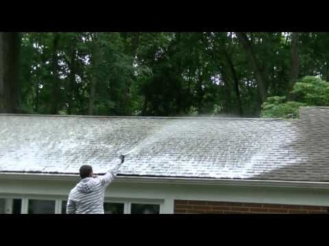 Non Pressure Roof Cleaning In 2020 Roof Cleaning Pressure Washing Services House Roof