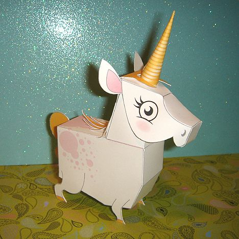 Download of a Paper Unicorn (They also have a Pegasus.)