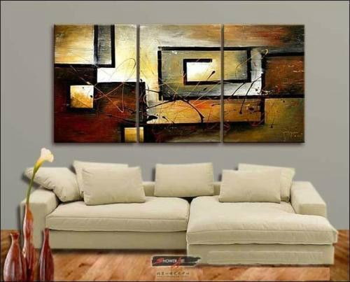 Bedroom huge handmade oil painting warm living his entire life in Crafts | eBay