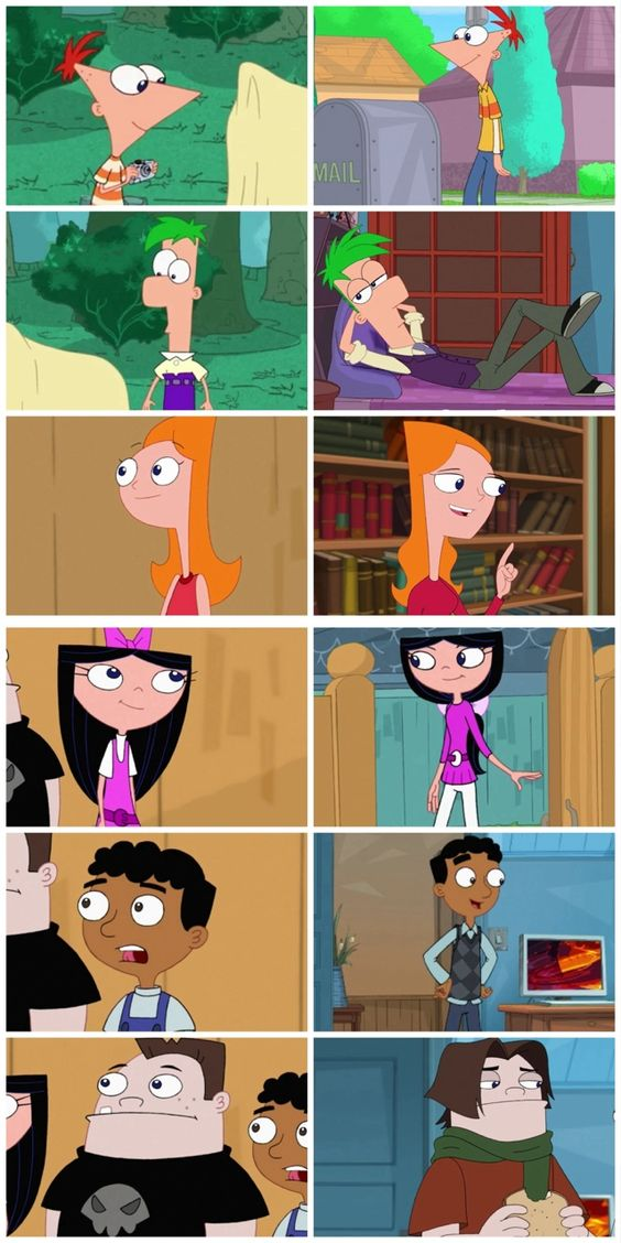 Duck face Phineas is adorable  Isabella and Phineas selfie