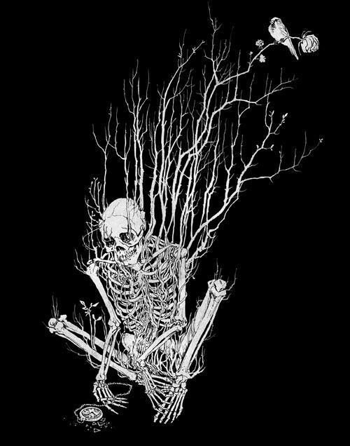 black and white skeleton drawings - Google Search