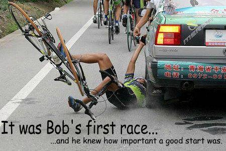 Bob's first race