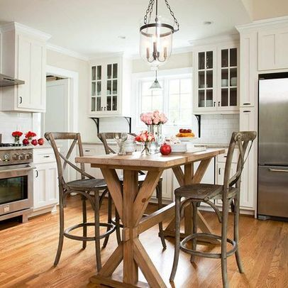 Eat in kitchen in kitchen and kitchen photos on pinterest for Table ideas for small kitchen