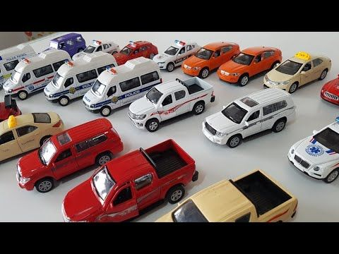 A Lot Of Toy Cars Kids Police Cars With Amazing Sound For Kids Youtube Kids Police Car Toy Car Kids Police