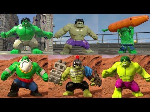 Evolution Of Hulk Bruce Banner In Lego Marvel Games Youtube Lego Marvel Games Lego Super Heroes Lego Marvel