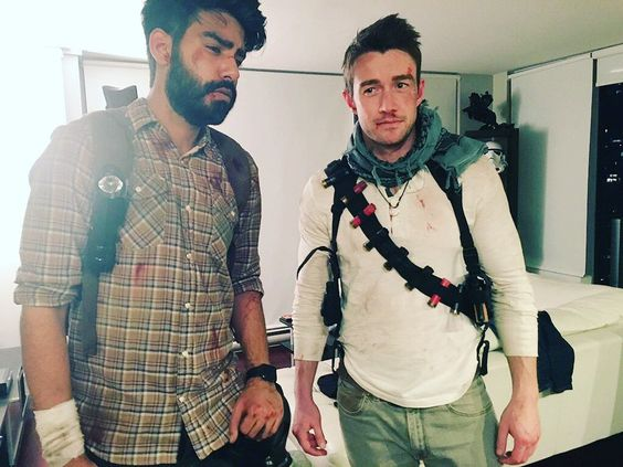 Another photo from Saturday's Halloween party mine and @robertearlbuckley's theme was games company Naughty Dog. #TheLastOfUs #Uncharted by rahulkohli13
