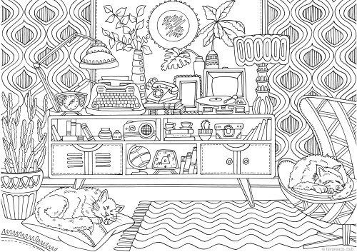 Memories From The 70s Printable Adult Coloring Pages Coloring