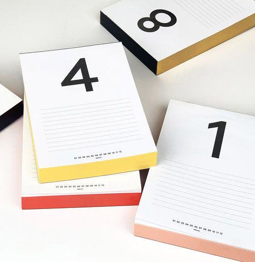 Daily Calendar Pads Calendar Pad Daily Desk Calendar Daily Calendar