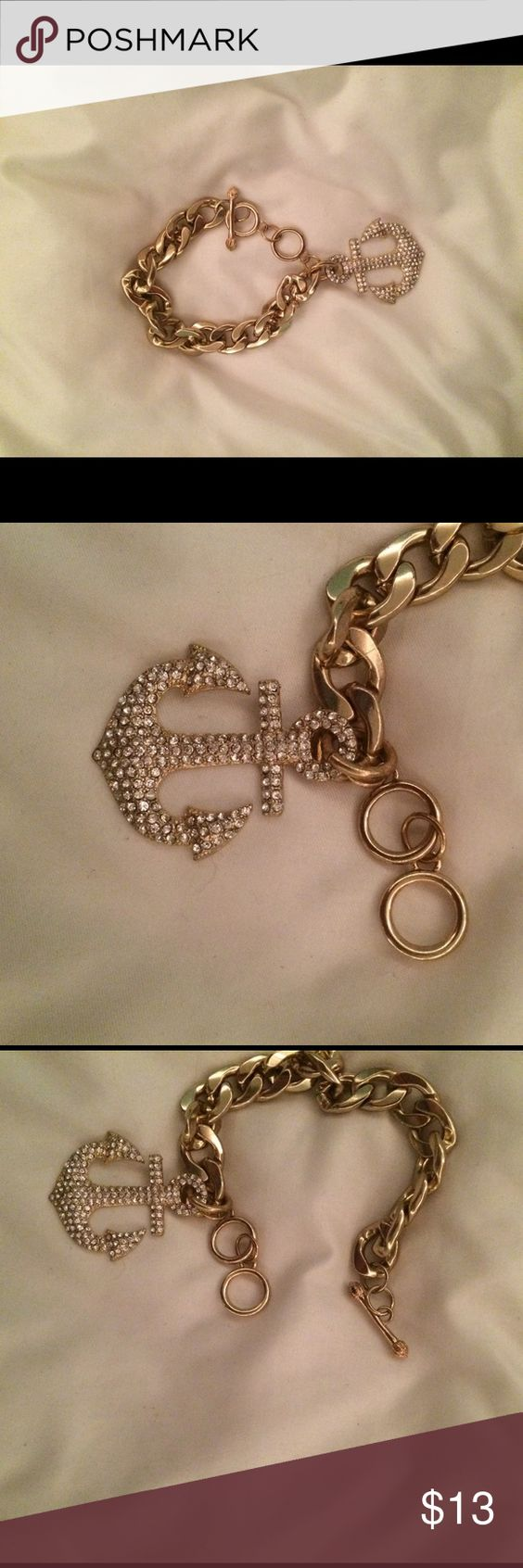 beautiful gold bracelet with anchor charm new condition! Charming Charlie Jewelry Bracelets