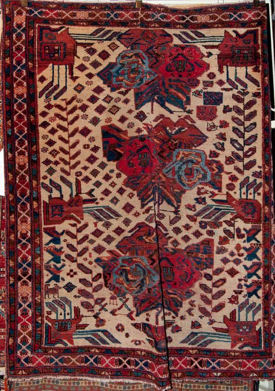 Antique Afshar Persian Rug  size 6'0″ x 4'8″