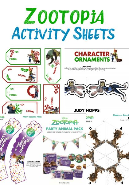zootopia activity sheets family movie night activities and movie nights. Black Bedroom Furniture Sets. Home Design Ideas