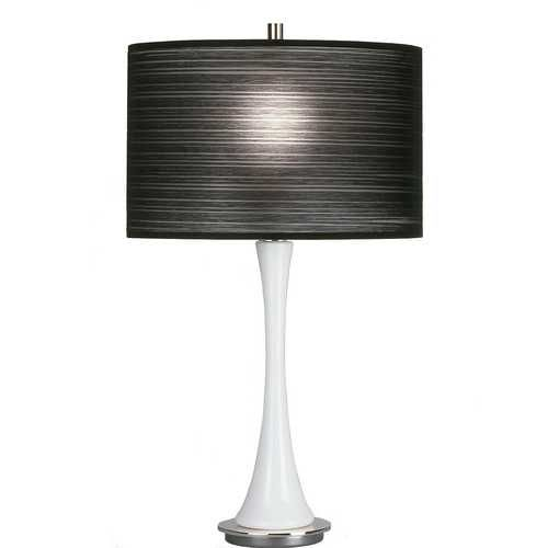 table lamp with pleated black shade lighting pinterest shades. Black Bedroom Furniture Sets. Home Design Ideas